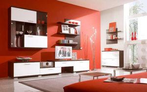 Сочетание красный белый чёрный цвет