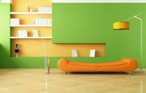 Сочетание оранжево-зелёный цвет