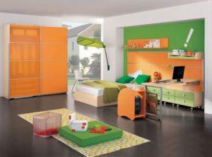 Сочетание оранжево-зелёный