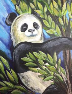 "Картина ""Панда"", холст, акрил"
